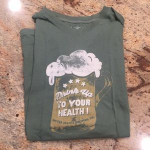 Lucky Brand Drink Up to Your Health T-Shirt